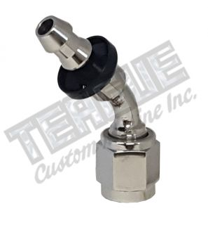 -04 AN 45° STAINLESS STEEL PUSH LOCK HOSE END