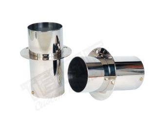 """STAINLESS EXHAUST TIPS 4"""" x 8"""""""