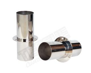 """STAINLESS EXHAUST TIPS 4"""" x 11"""""""